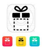 Gift box empty icon. — Stock Vector