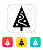 Christmas tree icon. — Stock Vector