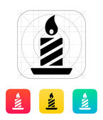 Christmas candle icon. — Stock Vector