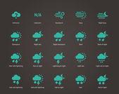 Weather icons. — Stockvektor