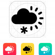 Cloudy with snow weather icon. — Stock Vector #36017267