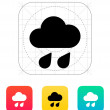Stock Vector: Downpour weather icon.