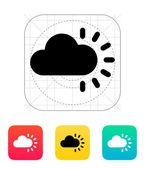 Cloudy weather icon. — Stock Vector