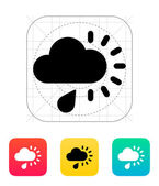 Cloudy with rain weather icon. — Cтоковый вектор