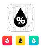 Humidity weather icon. — Stock Vector