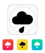 Icono del tiempo de lluvia. — Vector de stock