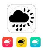 小雨天气图标. — 图库矢量图片