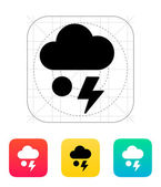 Hail with lightning weather icon. — Vector de stock