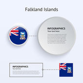 Falkland Islands Country Set of Banners. — Stock Vector