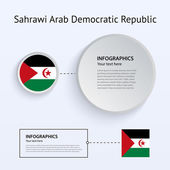 Sahrawi Arab Democratic Republic Country Set of Banners. — Stock Vector