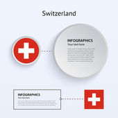 Switzerland Country Set of Banners. — Stock Vector
