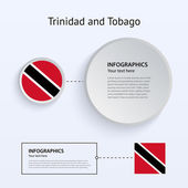 Trinidad and Tobago Country Set of Banners. — Stock Vector