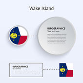 Wake Island Country Set of Banners. — Stock Vector