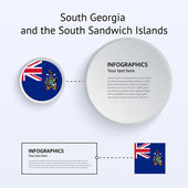 South Georgia and Sandwich Islands Country Set of Banners. — Stock Vector