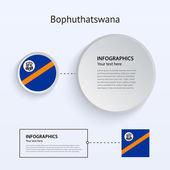 Bophuthatswana Country Set of Banners. — Stock Vector