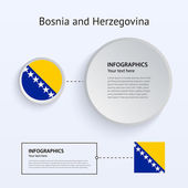 Bosnia and Herzegovina Country Set of Banners. — Stock Vector