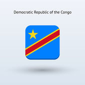 Democratic Republic of the Congo flag icon — Stock Vector