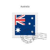 Australia Flag Postage Stamp. — Stock Vector