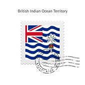 британская территория индийского океана флаг почтовая марка. — Cтоковый вектор