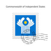Commonwealth of Independent States Flag Postage Stamp. — Stock Vector