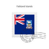 Falkland Islands Flag Postage Stamp. — Stock Vector