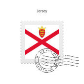 Jersey Flag Postage Stamp. — Stock Vector