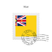 Niue Flag Postage Stamp. — Stock Vector