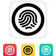 Fingerprint scanner icon. — Stock Vector