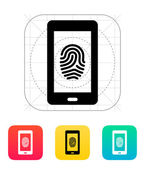 Phone fingerprint icon. — Stock Vector