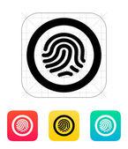 Fingerprint scanner icon. — Stock Vector