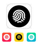 Thumbprint scanner icon. — Vector de stock