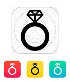 Diamond ring icon. — Stock Vector