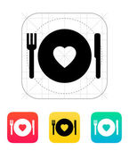 Romantic dinner icon. — Stock Vector