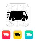 Fast delivery Minibus icon. — ストックベクタ