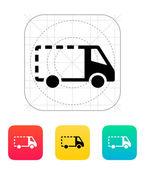 Empty delivery minibus icon. — Vettoriale Stock
