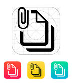 Attached files icon. — Stock Vector