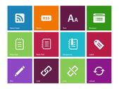 Blogger simgeler renk arka plan üzerinde — Stok Vektör