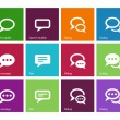Speech bubble icons on color background. — Stock Vector #38436199