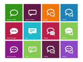 Speech bubble icons on color background. — Stock Vector
