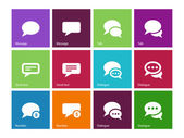 Message bubble icons on color background. — Stock Vector