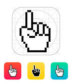 One finger. Pixel hand cursor icon. — Vector de stock