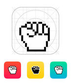 Pixel fist icon. — Vector de stock
