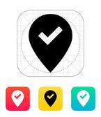 Accept map pin icon. — Stock Vector