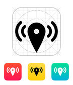 Map point signal icon. — Vector de stock