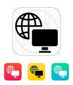 Television icon. — Stock Vector