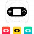 Stock Vector: Gamepad screen icon.