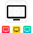 Monitor screen icon. — Vector de stock #38674151