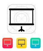 Projektor ekran ikona. — Wektor stockowy