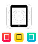 Tablet screen icon. — Vector de stock