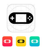 Gamepad screen icon. — Stock Vector
